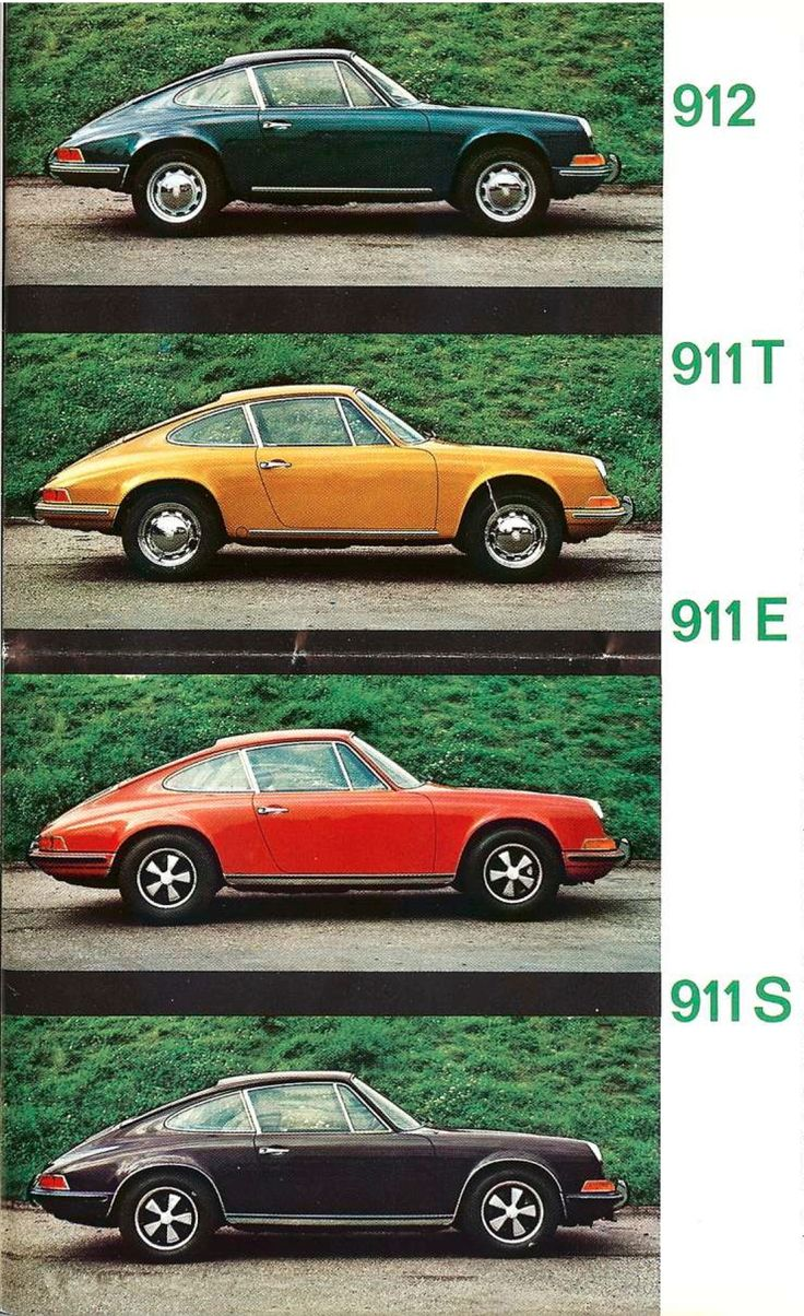 First generation Porsche 911 model range.