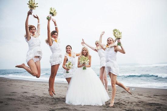La novia con sus damas de honor!