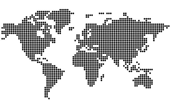 Free Dotted World Map Vector