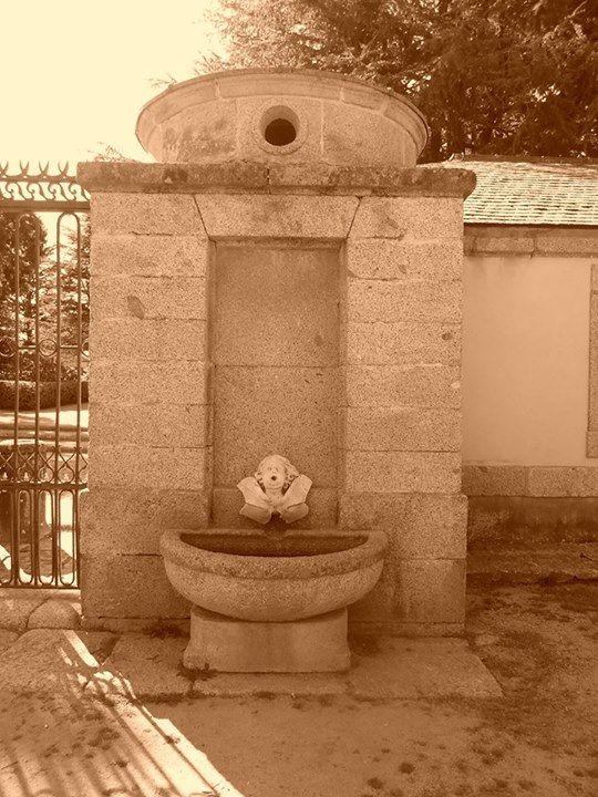 Casita del Príncipe. Fuente en garita de puerta del recinto del palacete