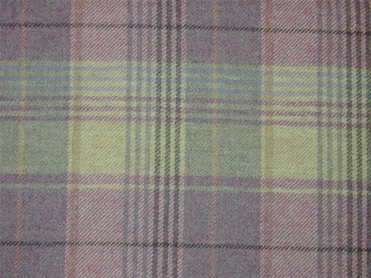 Curtain Fabric Highland Wool Tartan Heather Check Plaid Tweed Upholstery