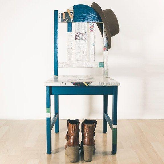 Schon einmal ein Möbel mit Serviettentechnik verschönert? #serviettentechnik #decoupagebandung #decoupage #decoupagelovers #decoupageart #decoupagefurniture #decopatch #serviettentechnikmöbel #möbelgestalten #möbelgestalten #stuhl #chair #interior #craftsandarts #craft #selbstgemacht #diy #diyblog #furnitur