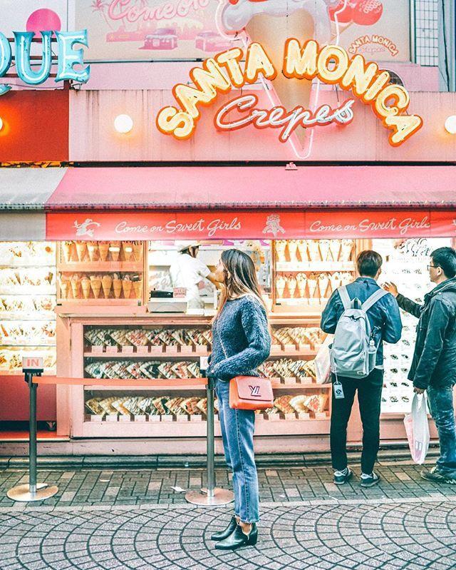 When in Takeshita Street: Crèpes are mandatory #japan #tokyo #takeshitastreet