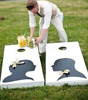 Outdoor Living Blog Outdoorlicious Outdoor Wedding. Josh would love a bean bag toss. Other ideas for outdoor weddings too!