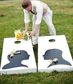 Outdoor Living Blog Outdoorlicious Outdoor Wedding. Josh would love a bean bag toss. Other ideas for outdoor weddings too!