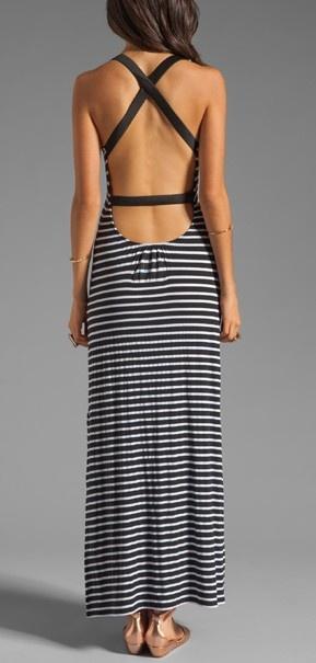 Nautical Maxi Dress, love the back