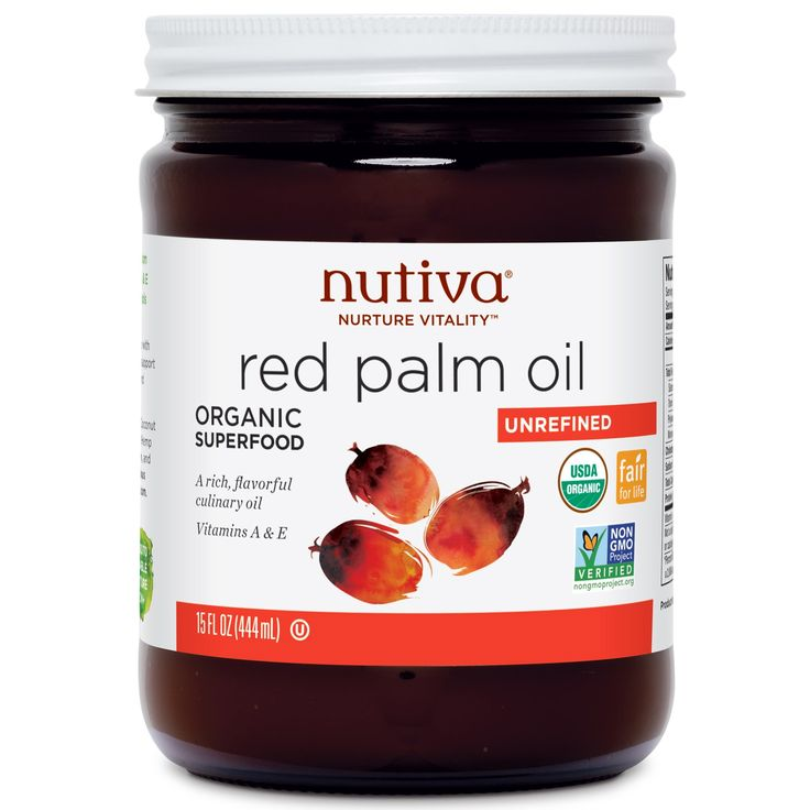 Nutiva, Organic Red Palm Oil, Unrefined, 15 fl oz (444 ml) - iHerb.com