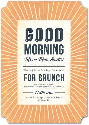Memorable Morning - After Wedding Brunch Invitations - Tallu-lah - Almond - Neutral : Front