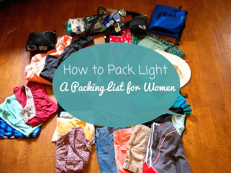 Packing for travel can be tricky, especially for women trying to pack light, but putting a little extra effort into is SO worth it. Less to lug around and