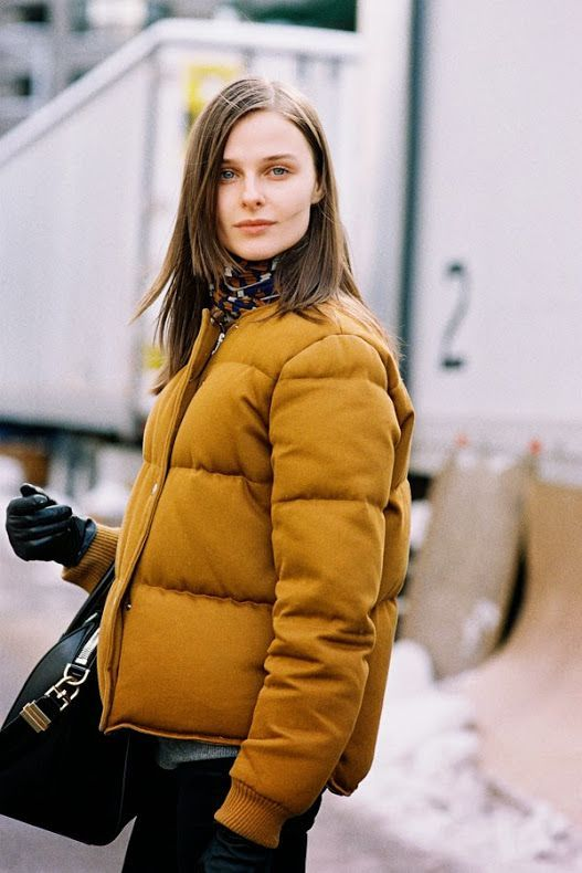 Break out the puffer jacket for winter. | Image via bloglovin.com