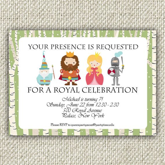 Best Royal Party Ideas On Pinterest Royal Theme Prince - Childrens birthday cards for the queen