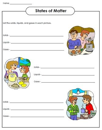 Check out our states of matter worksheets in our science section!