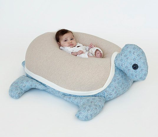 Baby gift,baby pillow,Nursery pillow,Turtle Beanbag,moka & blue Paisley,bean bag chair,animal shaped pillow