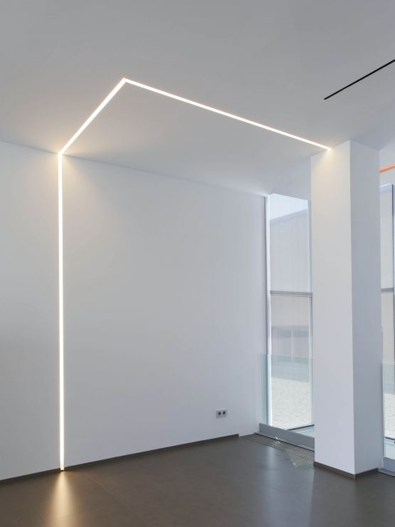 Flos Moonline Light Strips Inset Into Walls