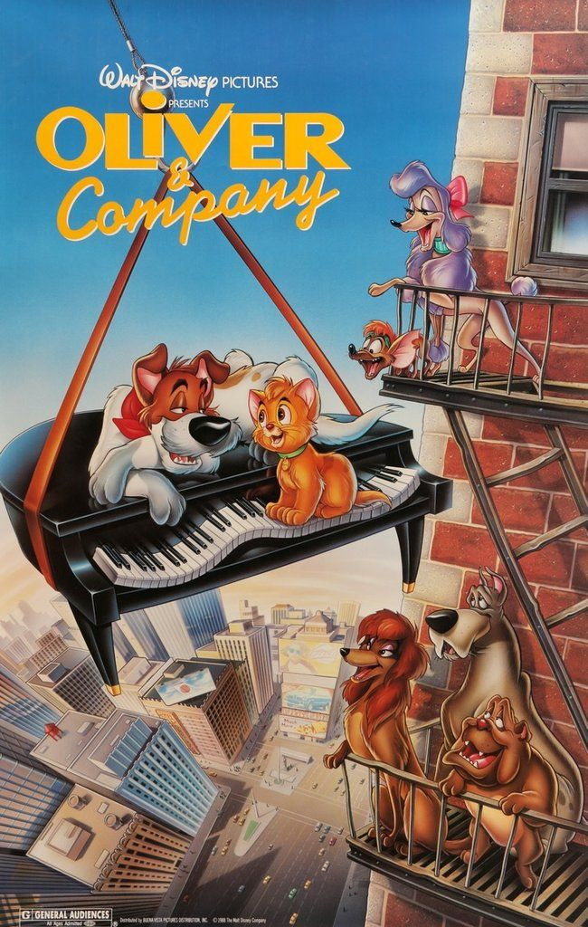 Oliver and Company (1988) Original One-Sheet Movie Poster