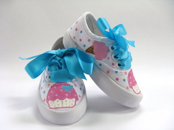 Cupcake and Ice Cream Shoes Ice Cream by boygirlboygirldesign