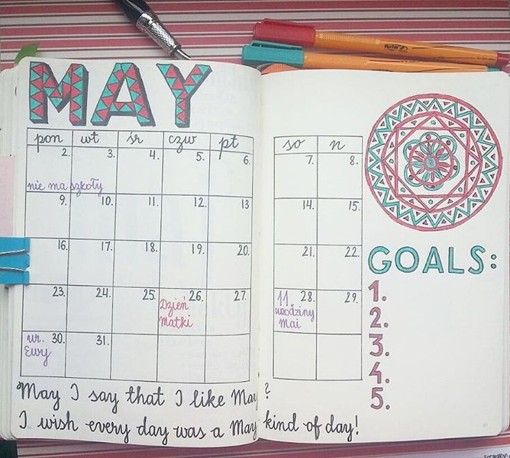 May I say that I like May? Intro page for May in my Bullet Journal ✒ #bulletjournallove #bulletjournaljunkies #bulletjournal #bulletjournaling #bulletjournalpolska #bujo #bujojunkies #bujoinspire #planneraddict #plannerlove #plannercommunity #planwithme #planwithmechallenge #planner #planowanie #notebook #leuchtturm1917 #May #goals #plans #lettering #typography #mandala #red #turquoise