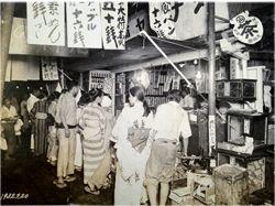 昭和初期の買い物風景(1932年)東京四谷の田中屋