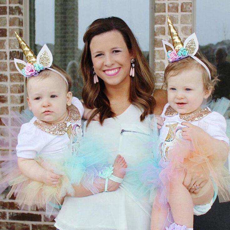 Children Decorative Unicorn Horn Hair Hoop with Flowers Glitter Ears for Girls Boys Halloween Bonus Party Head Accessories