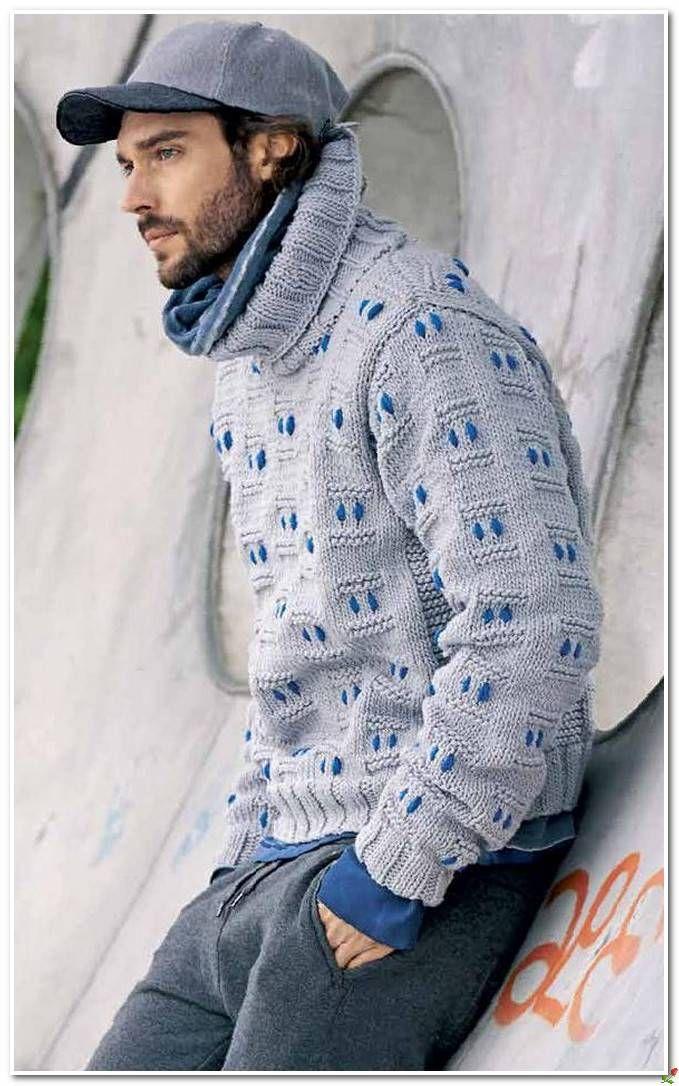 мужские вязаные пуловеры и свитера спицами