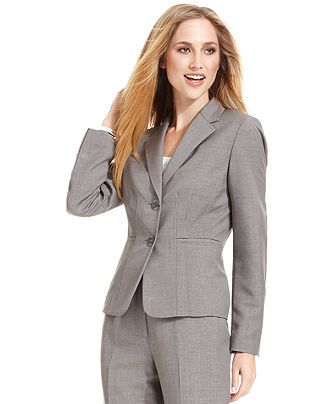Kasper Jacket, Seamed Notched Collar - Womens Suits & Suit Separates - Macy's