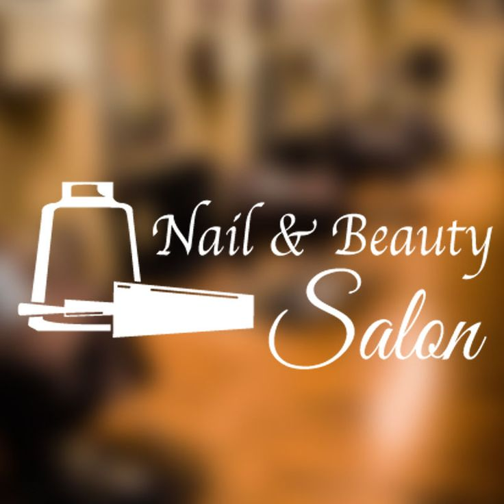 Best Nail Salon  Beauty Wall Stickers Art Decals Images On - How to make nail decals at home