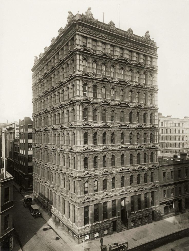 Prells Building 1, F M White and Sons, Queen Street, Melbourne, 1889-90 for Wilhelm Prell
