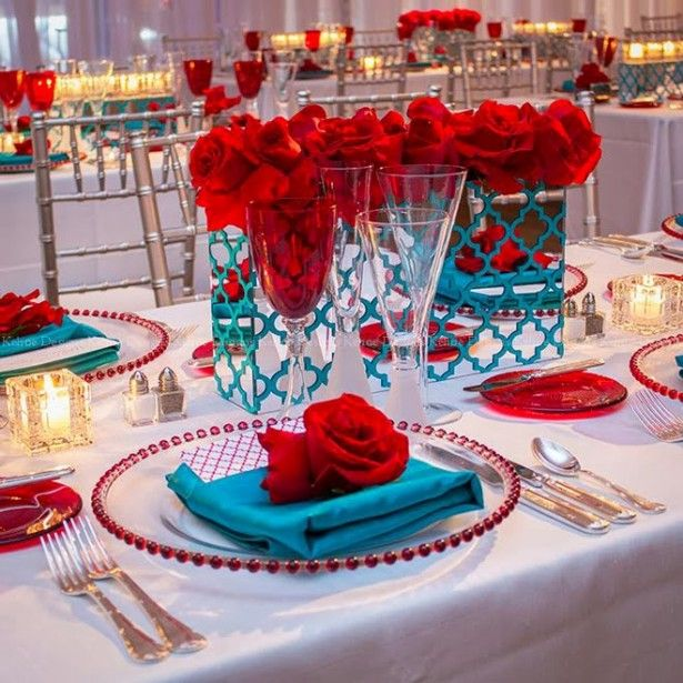 Turquoise And Red Wedding Ideas: Best Wedding Centerpieces Of 2014
