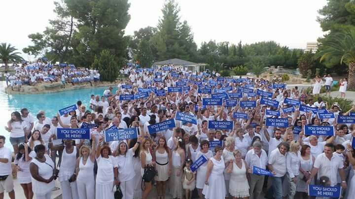 Sea of blue signs!!