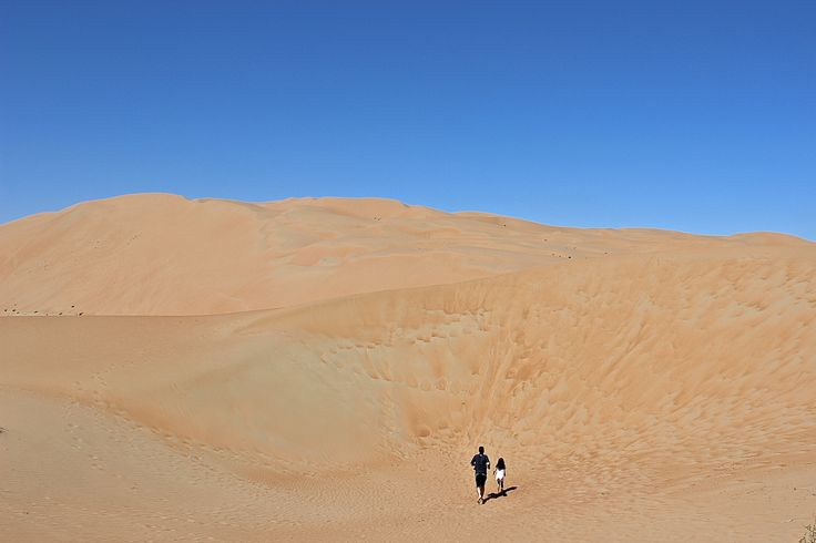 "Danny and Mia showing off the ""Scale"" of the Rub' al Khali (The Empty Quarter)…"