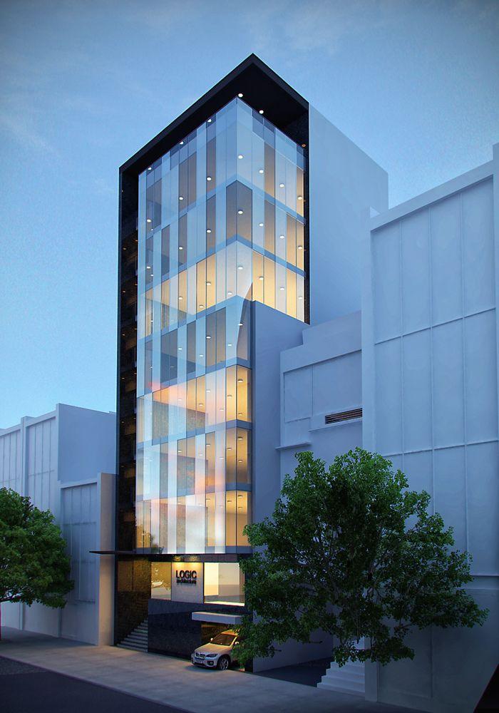 office facade design. office building by jinkazamah facade design c