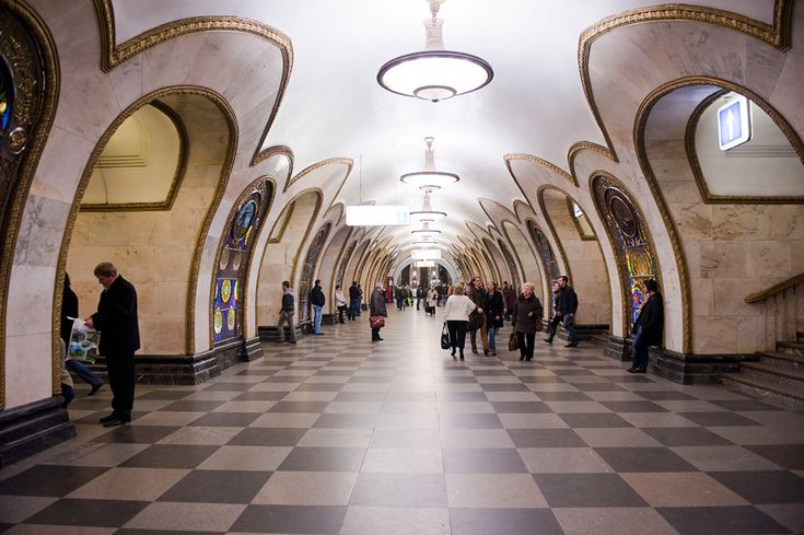 Станция метро Новослободская, Москва, Россия, Европа