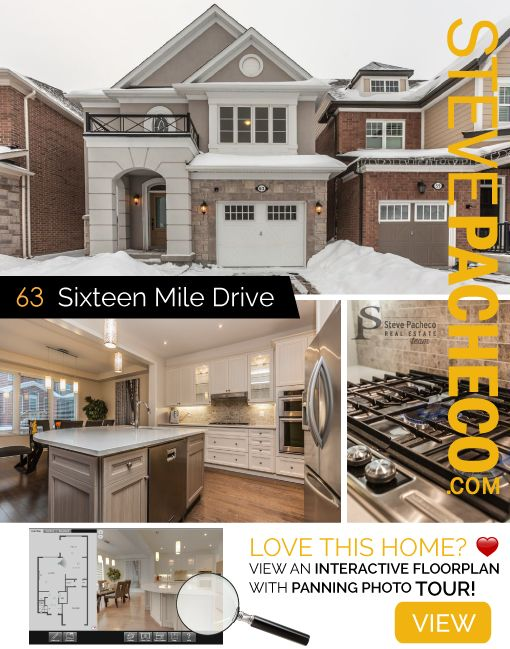 SOLD! 63 Sixteen Mile Drive, Oakville, ON Elegant, Modern, Luxury. 3bdrm 1yr new home in the Preserve. Contact Steve Pacheco direct: 905-616-2935 / www.stevepacheco.com