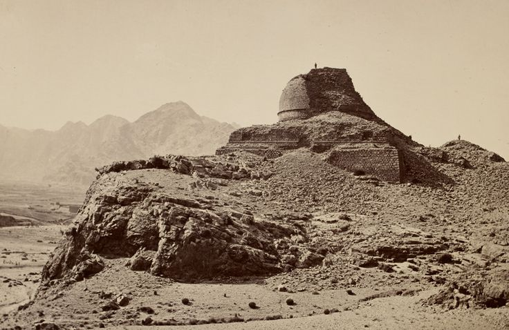 Ruined Buddhist Stupa in the Khyber Pass region, c. AD 200 ...