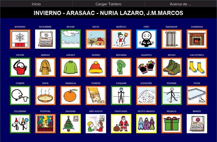 MATERIALES -Tablero de comunicación para AraBoard: Invierno.  Tablero de comunicación para AraBoard sobre el Invierno.  http://www.catedu.es/arasaac/materiales.php?id_material=1059