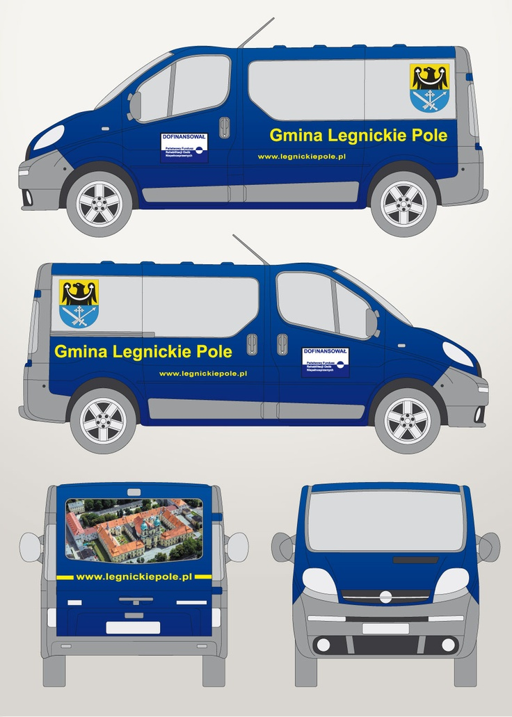 Projekt i oklejenie Opel Vivaro Gmina Legnickie Pole
