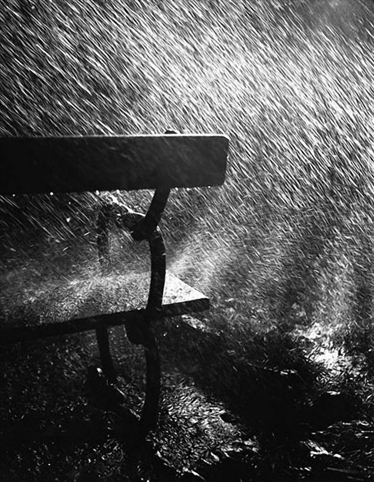 Robert Häusser | Bank im Regen, 1942: Photos, Parks Benches, Robert Häusser, Black And White Rain, Regen, Rain Today, Rain Rain, Rainy Days, Rain Photography