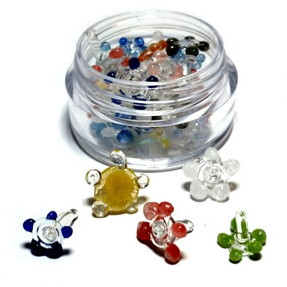 50 Glass Tobacco Smoking Screen (High Quality) Flower & Daisy (Stoner Gifts)