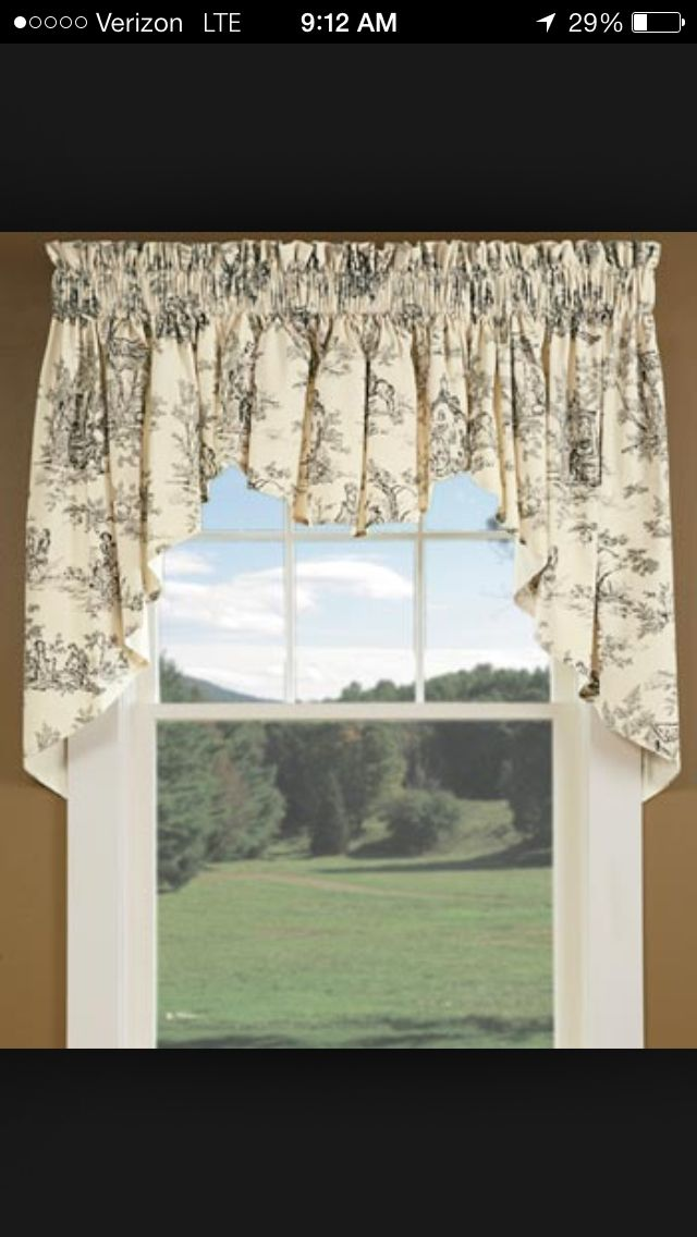 toile curtain idea toile ideas