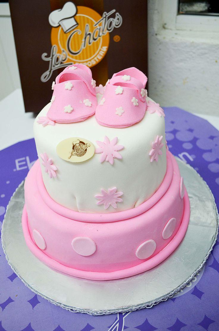 Attractive Pastel De Baby Shower Para Niña