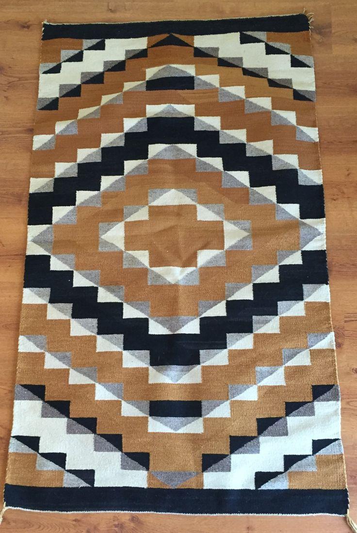 Circa1940 S Vintage Navaho Weaving 35 X 61 Antique Navajo Rug Textile By