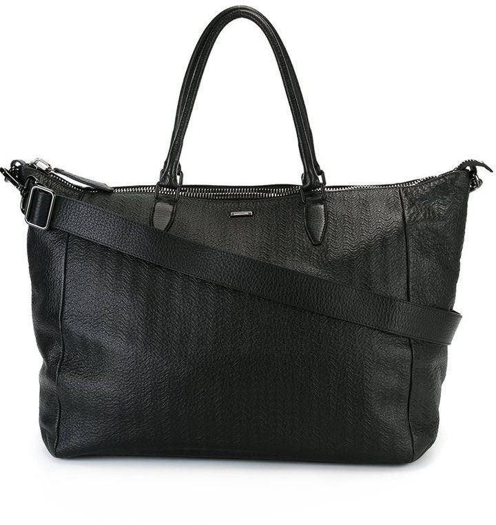 Zanellato textured zipped tote bag