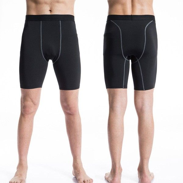 Sale 19% (7.37$) - Pro Mens Traning Sport Quick Dry Running Tight Cycling Skin Compression Shorts