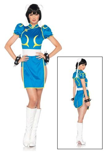If you like kicking bad guys over and over and over and over and over, then you're all set for the Street Fighter tournament. All you need is this Chun-Li costume!