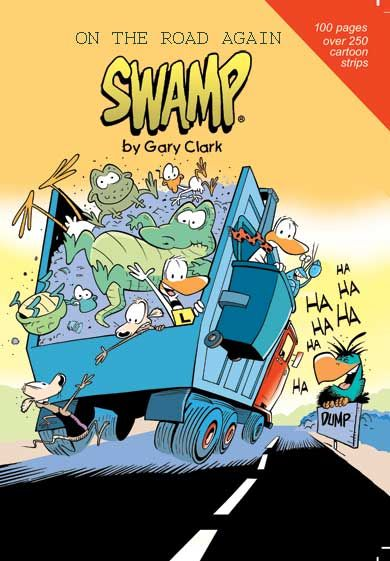 """This new cartoon book features some of the early Bludgerigar cartoons. """"On the Road Again"""" New Cartoon Book due for release Nov 7. All pre-orders will be autographed. Grab your copy now! #swamp #cartoons #book #garyclark https://www.swamp.com.au/shop_product.php?p=130"""
