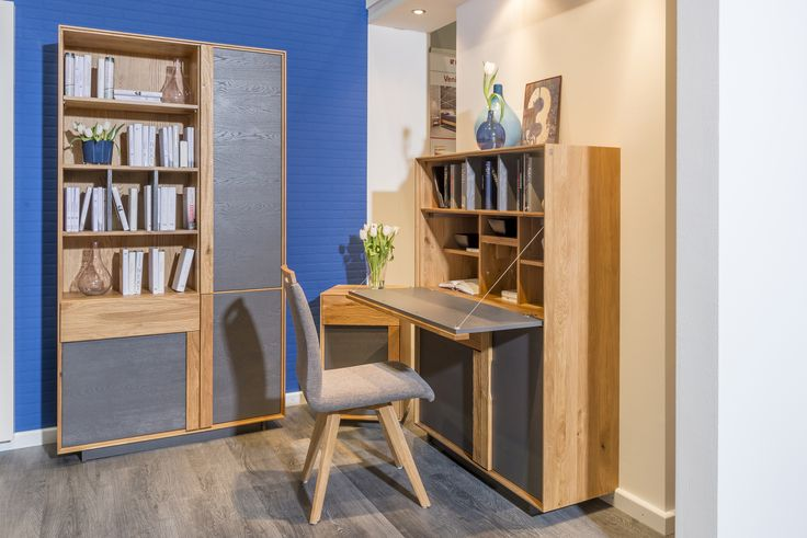Small home office idea. Perfect to keep your workspace organized.   #smartsolution #homeoffice #KloseFurniture #woodenfurniture