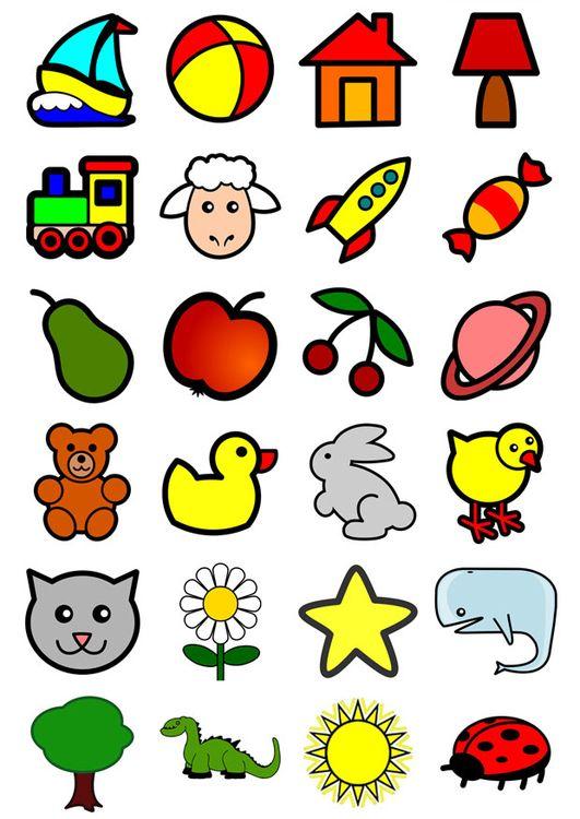 Afbeelding - prent icoontjes voor kleuters - Afb 20550
