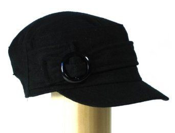 Womens Military cadet hat for women with short visor and a round buckle c1cc603e9869