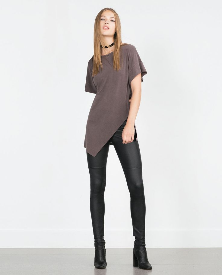 Image 1 of ASYMMETRIC PRINTED T-SHIRT from Zara