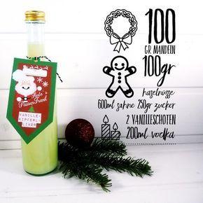 Rezept Geschenk aus der Küche - Vanillekipferl Likör - mehr dazu auf www.housesisters.com